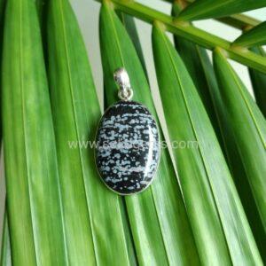 obsidian showflake oval